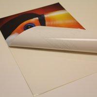 Monomeric Vinyl Stickers- white back Printing UK, Next Day Delivery - www.ontimeprint.co.uk