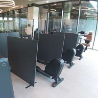 Protective wall dividers perfectly suited for gyms and fitness studios- www.ontimeprint.co.uk