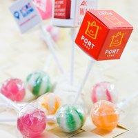 Personalise cube lollipops in box, www.ontimeprint.co.uk