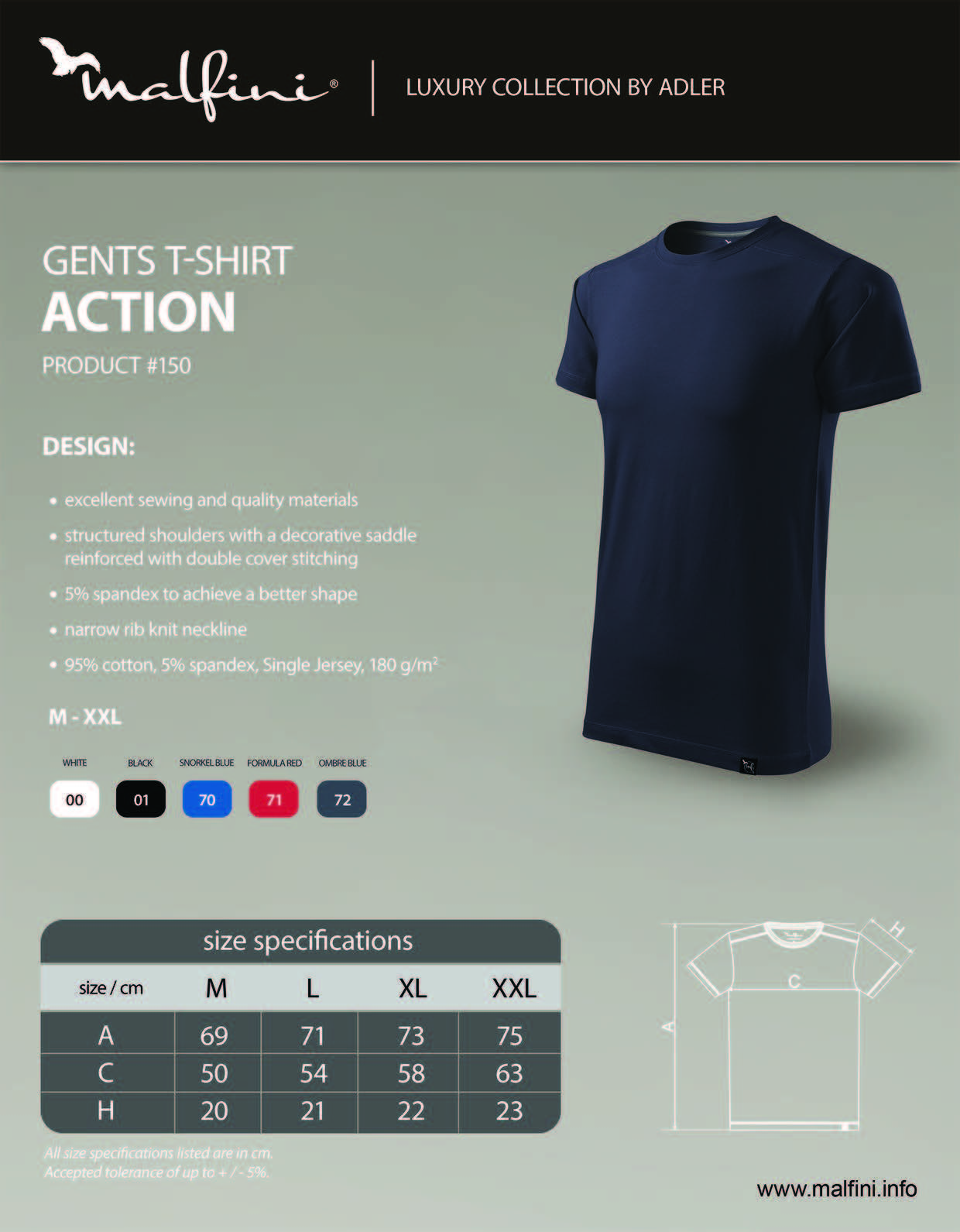 Action T-shirt Gents 150