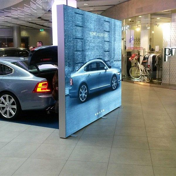 Full Colour Printed Freestanding LED Farbric Lightbox Display, www.ontimeprint.co.uk