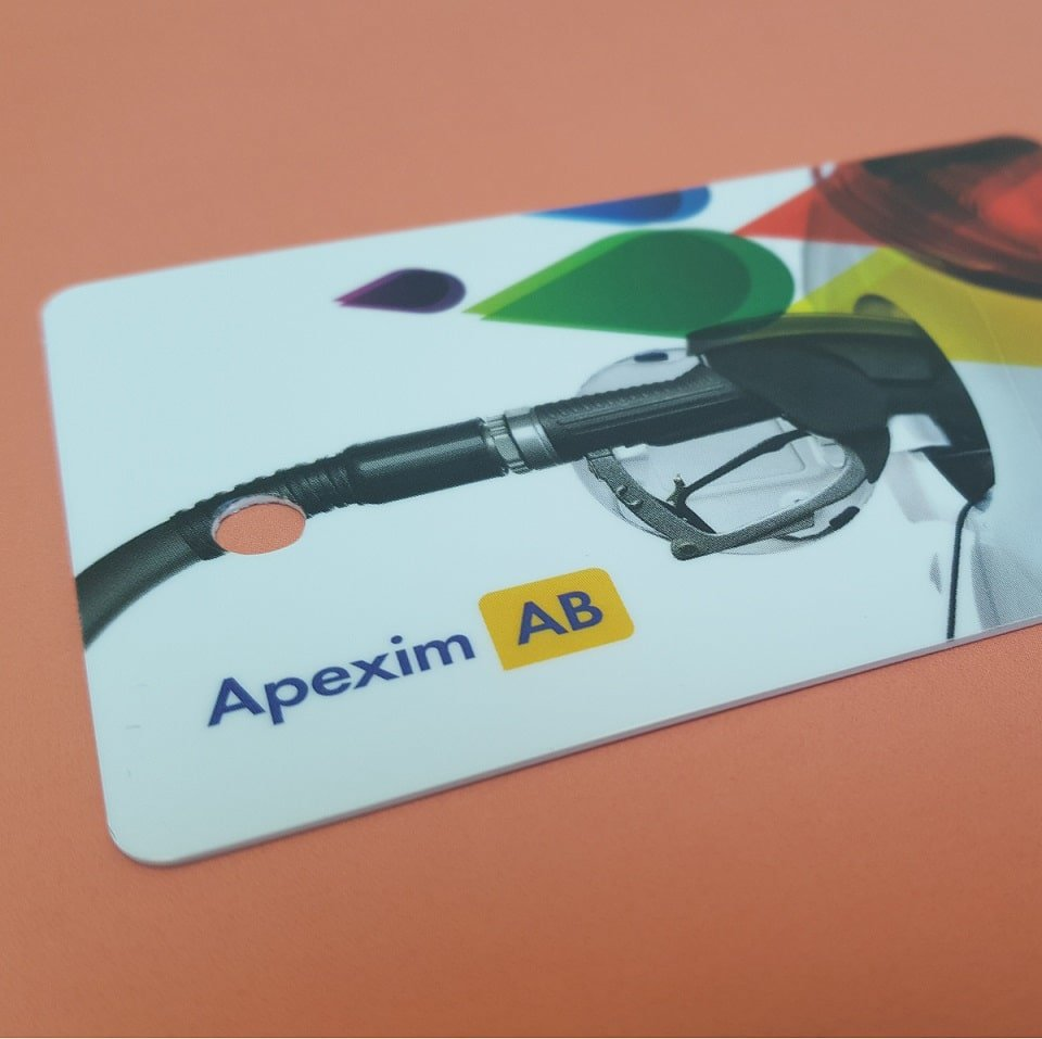 Plastic Card with Key Tags