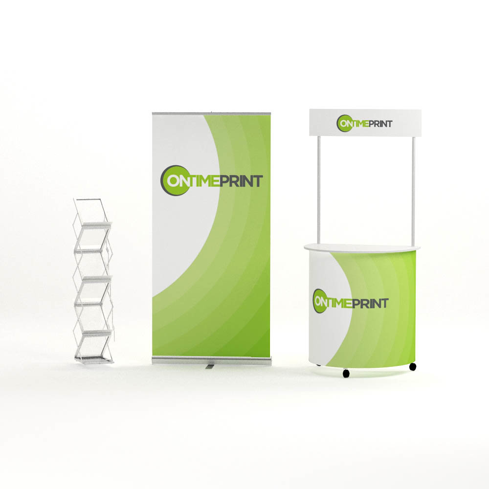 Exhibition Display Kit- Roller Banner & Classic Counter & Brochure Holder- www.ontimeprint.co.uk
