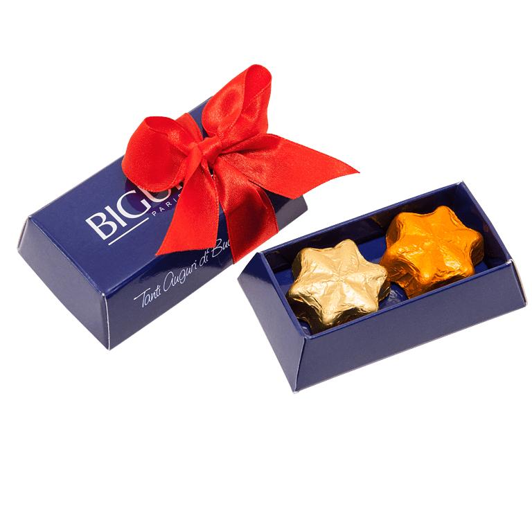 Custom Printed Small Brick with Chocolate Stars- www.ontimeprint.co.uk