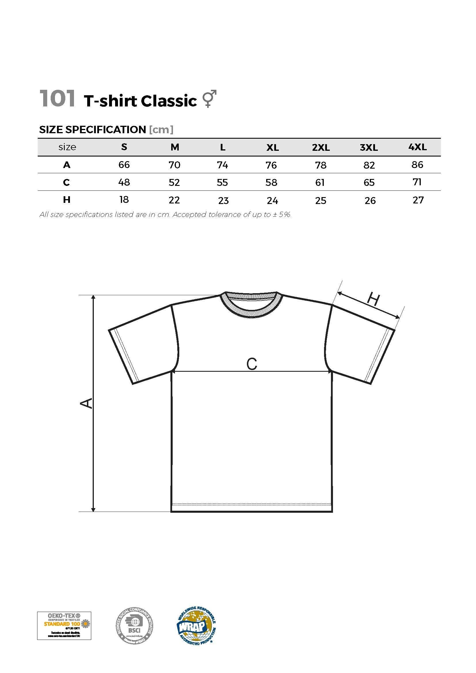 Custom Printed UK Promotional white Men T Shirt 101sieza chart www.ontimeprint.co.uk