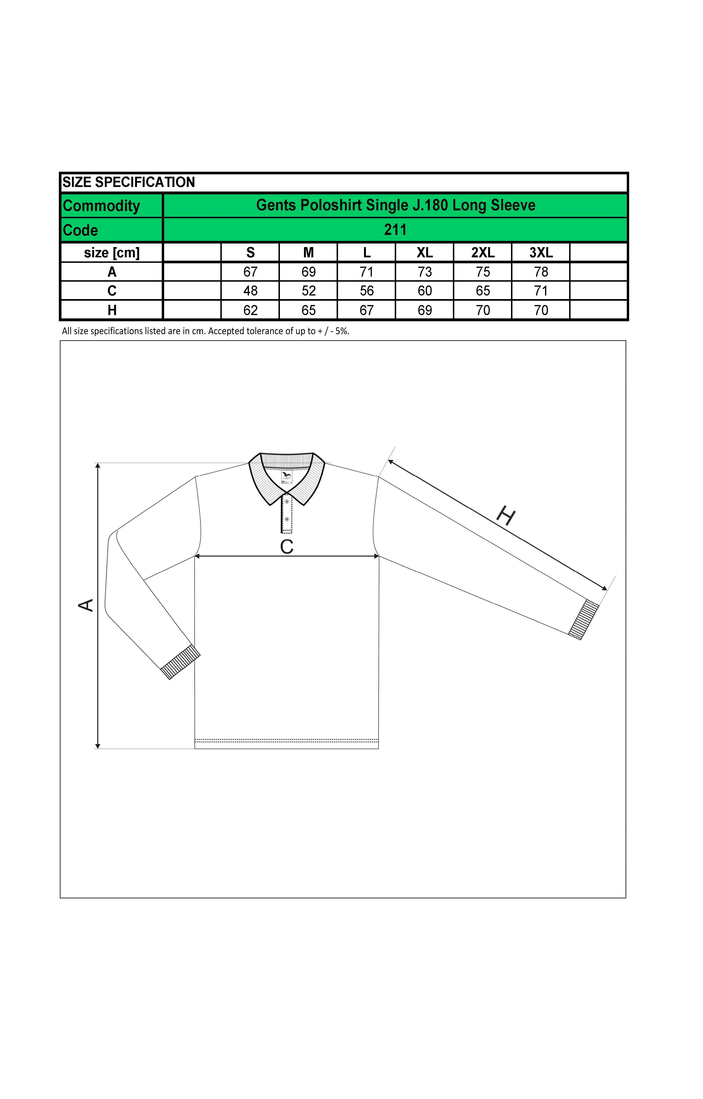 Custom Printed Promotional White Polo Shirts 211 size guide- www.ontimeprint.co.uk
