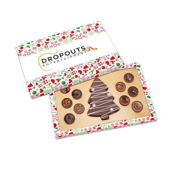 Personalised Elegance Christmas Tree Chocolate Box- www.ontimeprint.co.uk