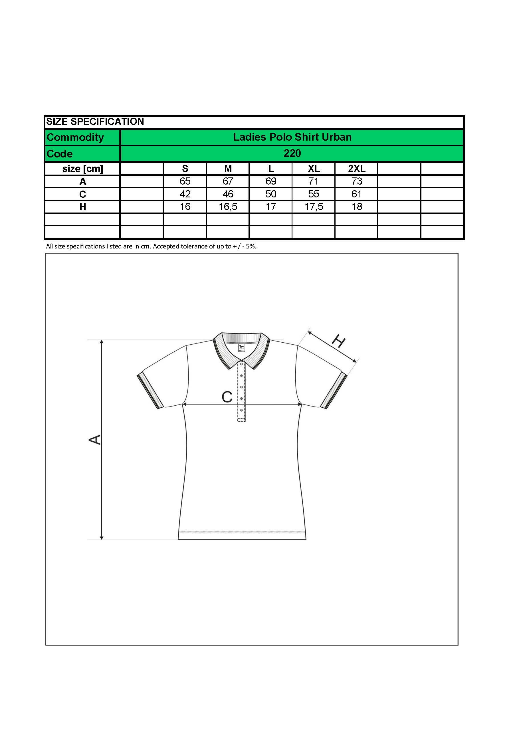 5abd67f85 ... Custom Embroidered Promotional white Ladies Polo Shirts 220 size chart  www.ontimeprint.co.