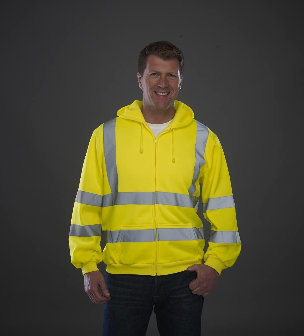 Custom embroiderem Zip Fleece Sweatshirt, yellow, Free delivery, www.ontimeprint.co.uk