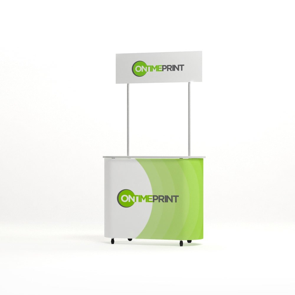 Promotional Counter with Header, www.ontimeprint.co.uk