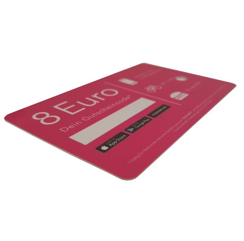 Gift Card with single signature strip- www.ontimeprint.co.uk