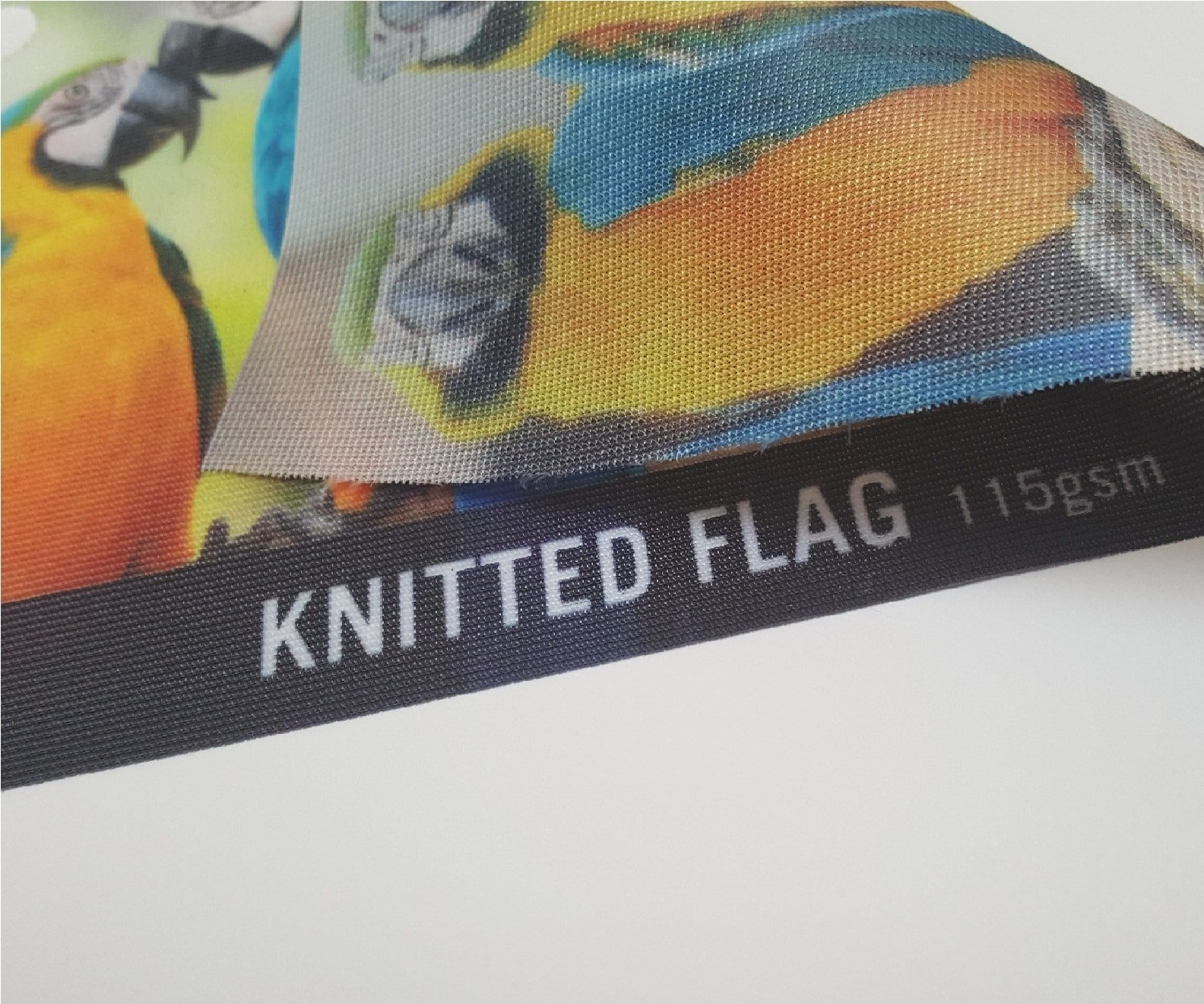 Knitted Flag 115 um Printing UK, Next Day Delivery - www.ontimeprint.co.uk