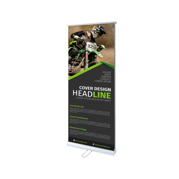 Double-sided Roller Banner- www.ontiemprint.co.uk