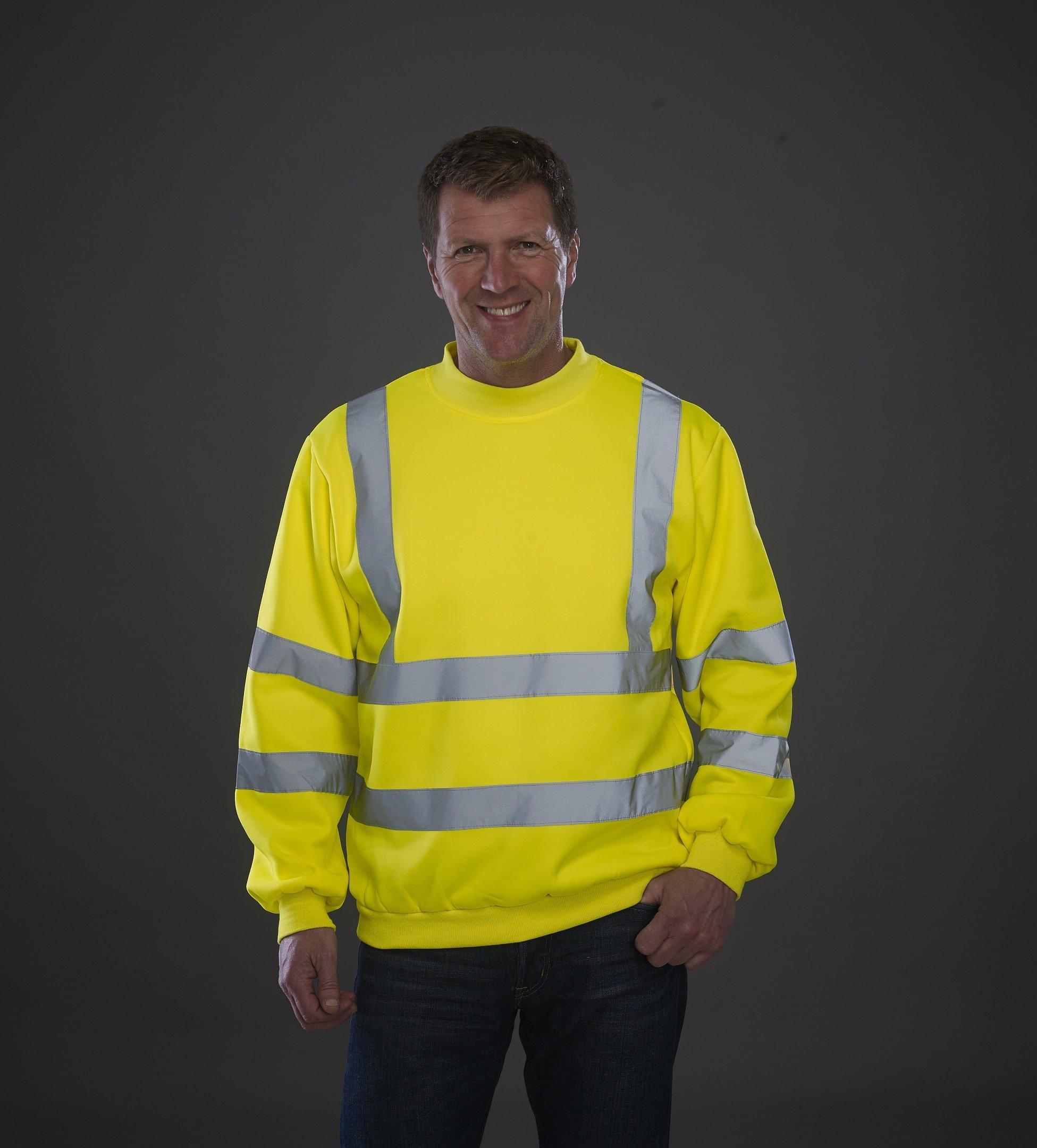 Personalised  Hi-Vis Fleece/ Sweatshirt with logo HVJ510, www.ontimeprint.co.uk