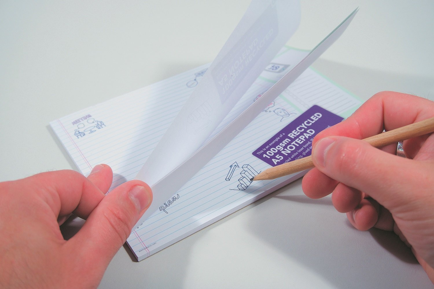 Notepads with glue binding Printing UK, Next Day Delivery - www.ontimeprint.co.uk