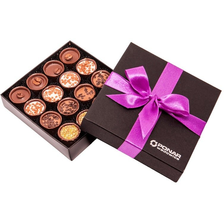 Personalised Mini Chocolate Box- Mercury, perfect gift for your clients, www.ontimeprint.co.uk