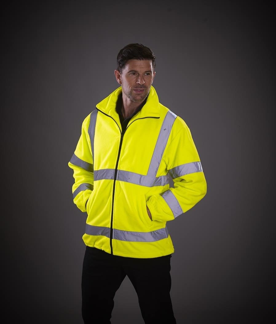 Custom embroiderem Heavyweight Fleece Jacket HVK08, yellow, Free delivery, www.ontimeprint.co.uk