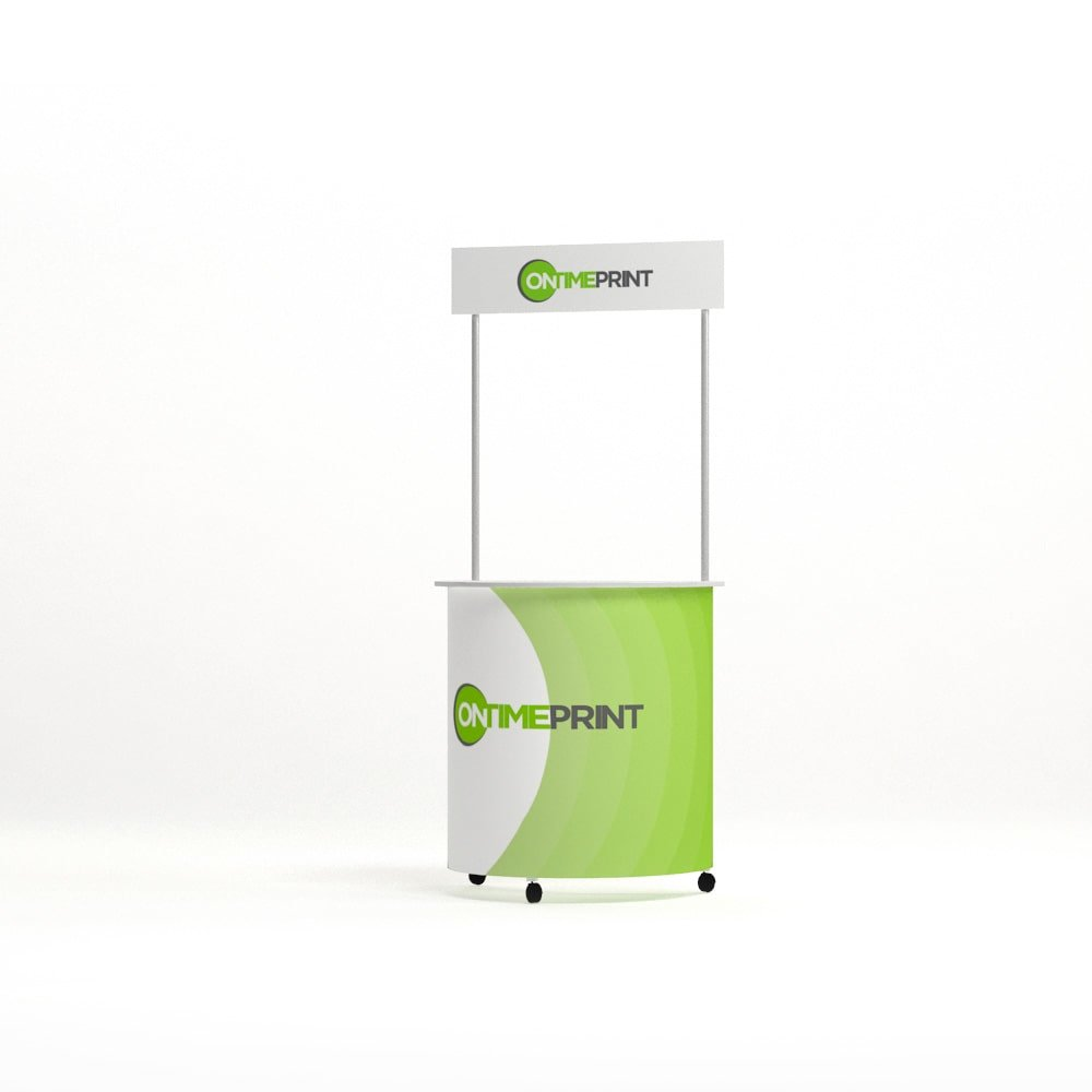 Classic Promotional Counter, strong aluminium frame! www.ontimeprint.co.uk