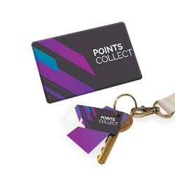 Personalised Plastic Cards with Key Tags