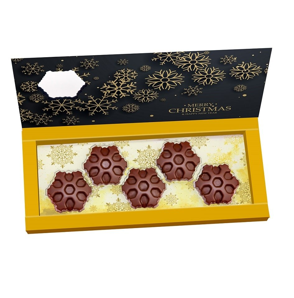 Personalised Chocolate Snowflake Set- perfect Christmas gift. www.ontimeprint.co.uk