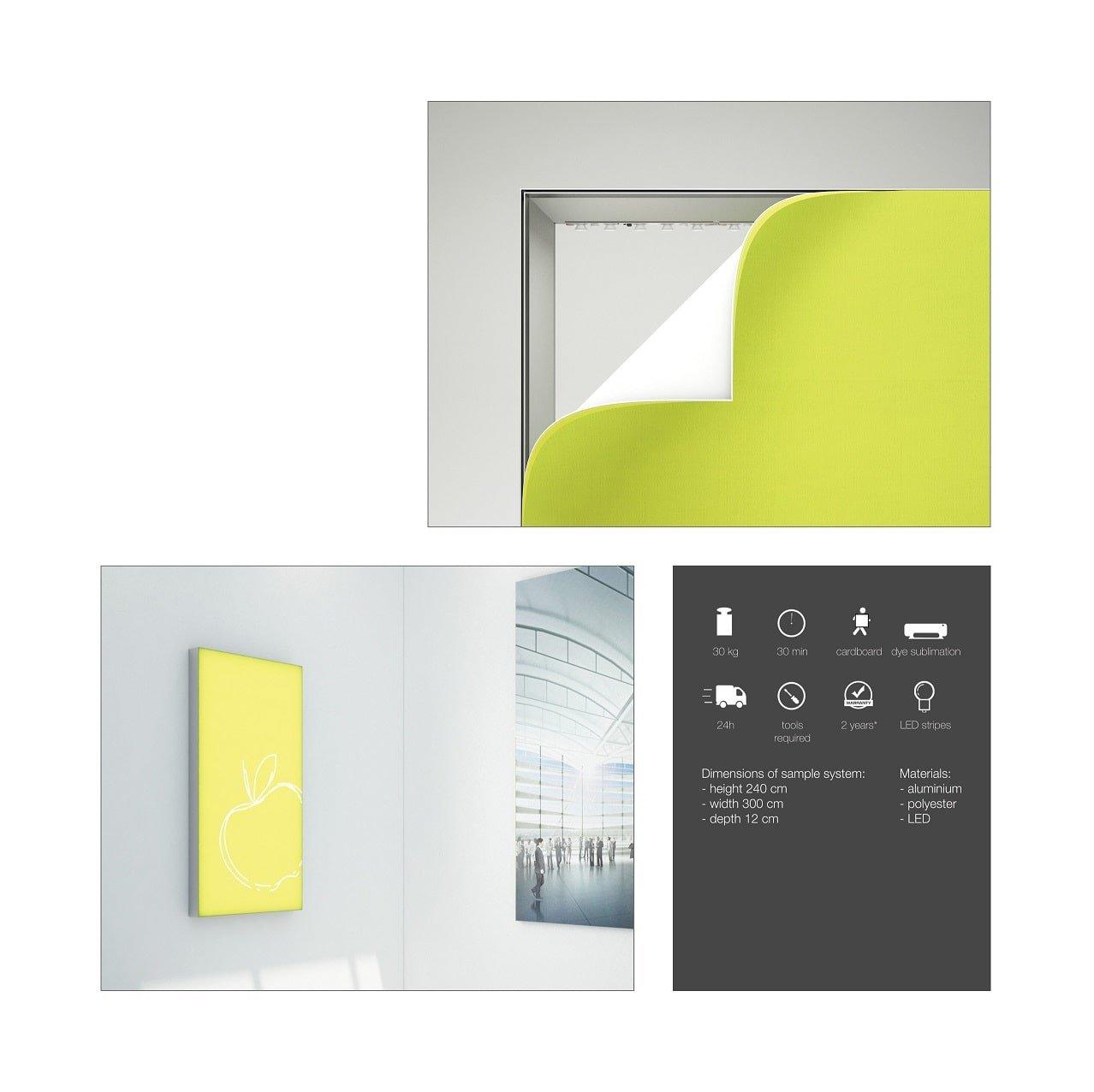 Freestanding LED Fabric Lightbox