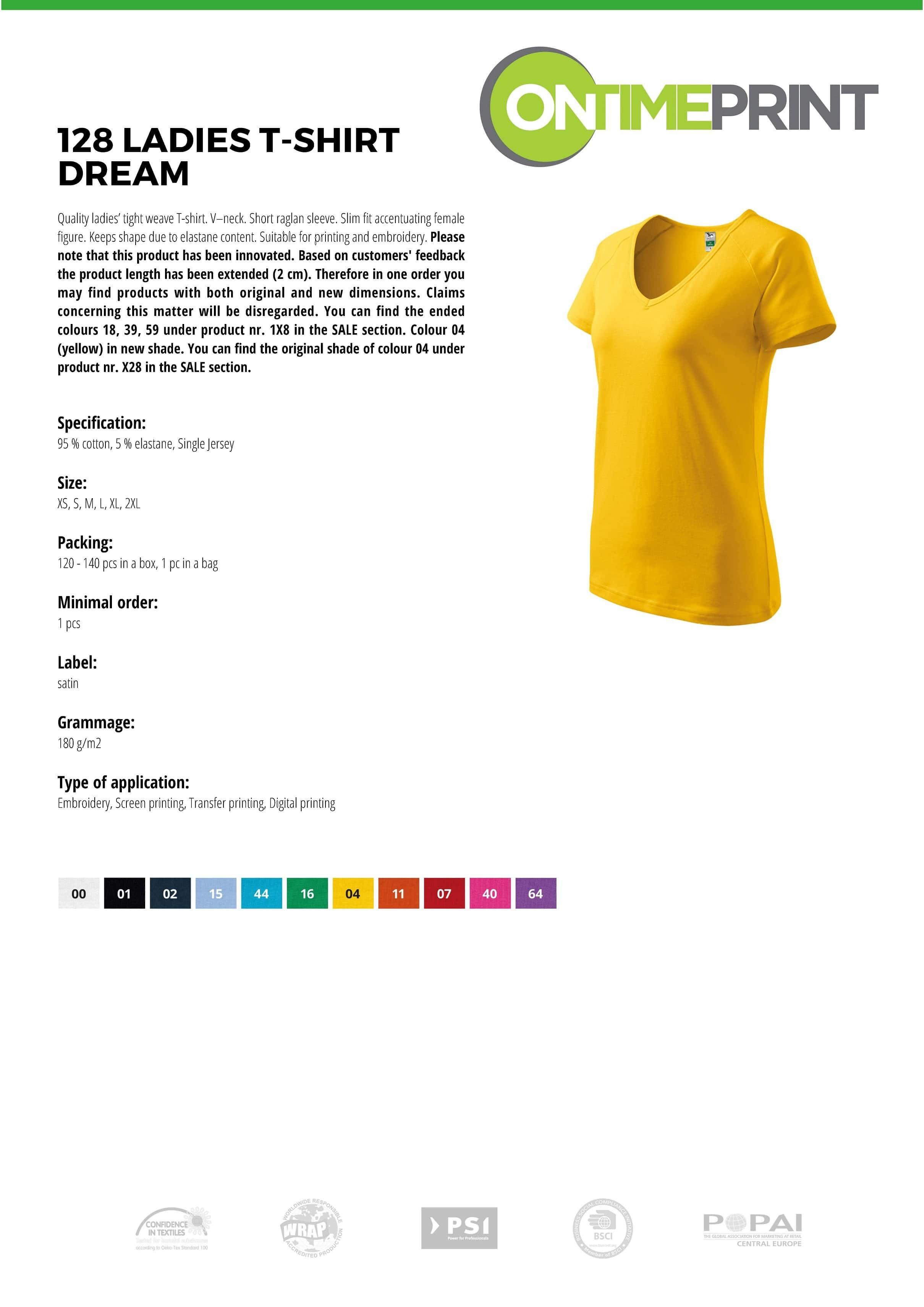 Dream Ladies T-shirt 128