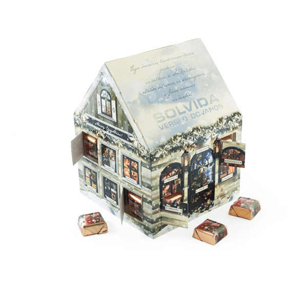 Bespoke Printed House Advent Calendar- www.ontimeprint.co.uk