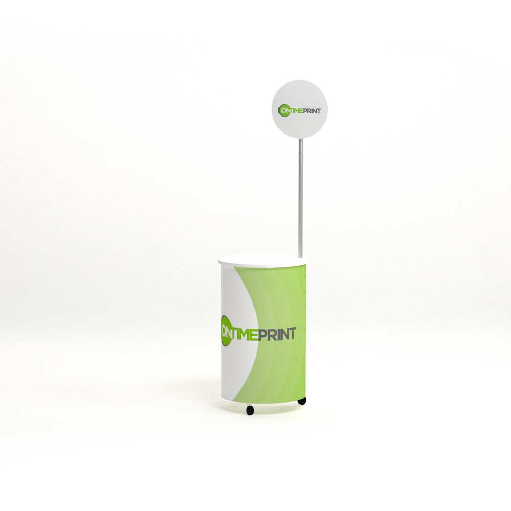 Cylinder Promotional Portable Counter- www.ontimeprint.co.uk