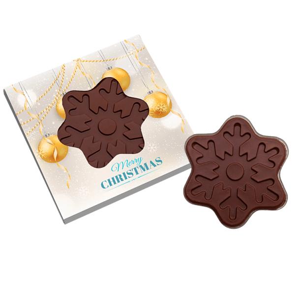Bespoke Printed Chocolate Snowflake- www.ontimeprint.co.uk
