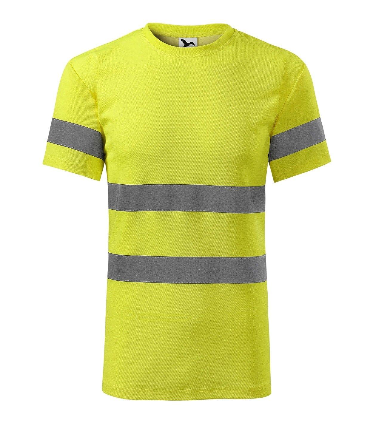 Custom Printed HI-VIS t-shirt, yellow, www.ontimeprint.co.uk