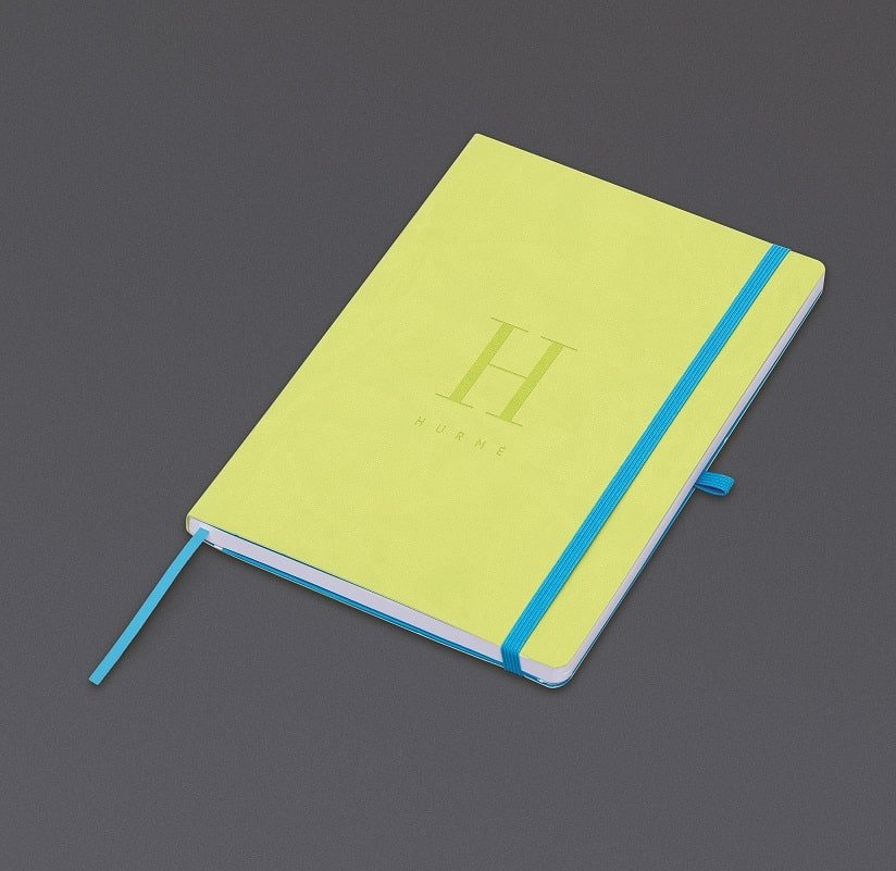 Elegant Personalised Soft Touch Notebook. A great gift idea. www.ontimeprint.co.uk