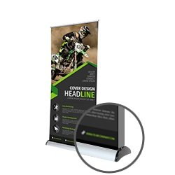 Double Sided Roller Banners medium Printing UK, Next Day Delivery - www.ontimeprint.co.uk