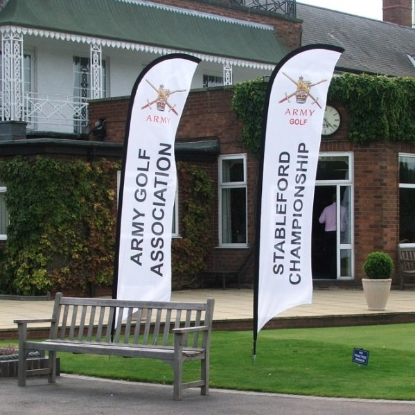 Premium Feather medium Flag Printing UK, Next Day Delivery - www.ontimeprint.co.uk