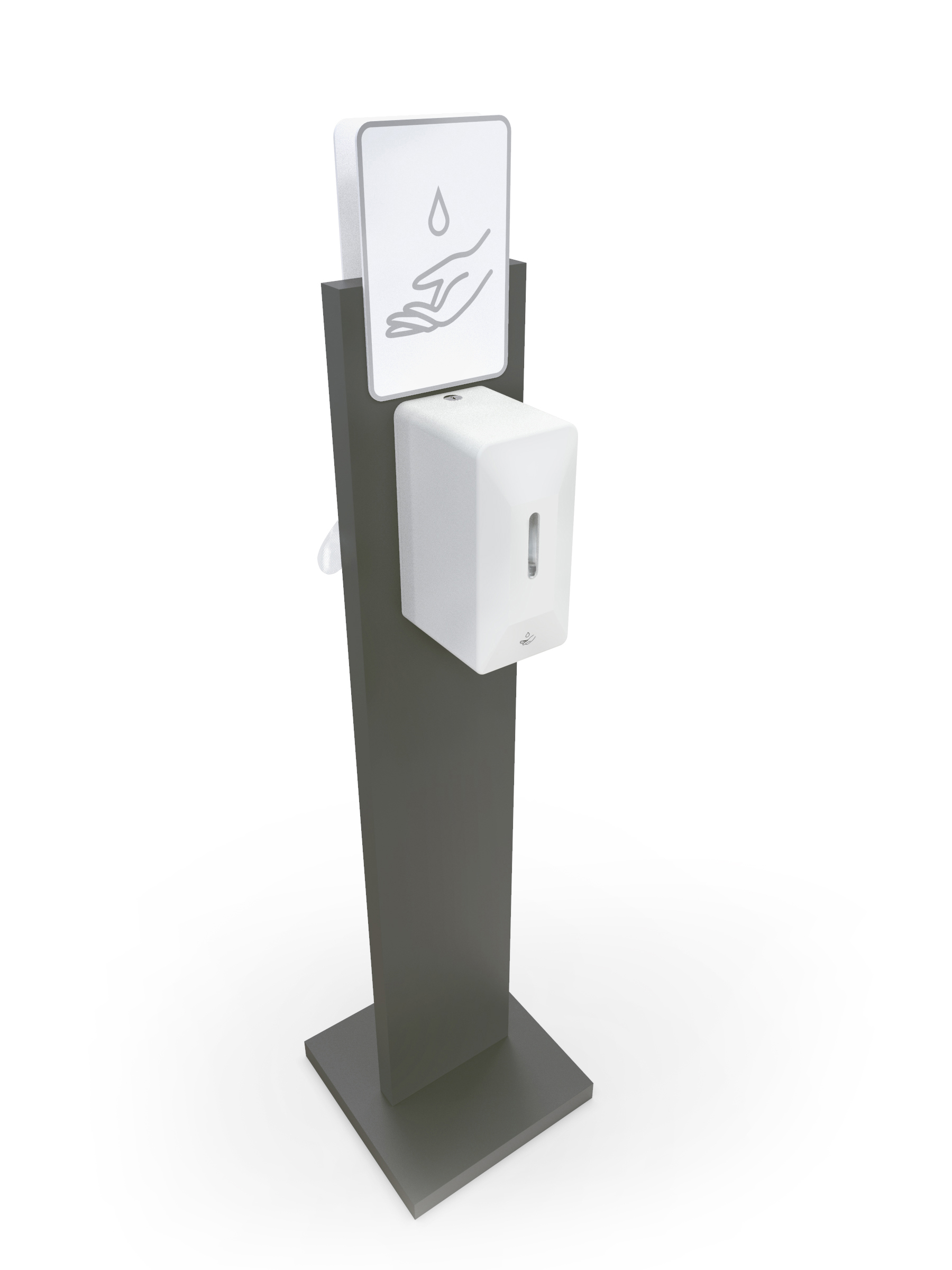Freestanding Metal Automatic Hand Sanitiser Station- Coronavirus Covid19 Essentials www.ontimeprint.co.uk