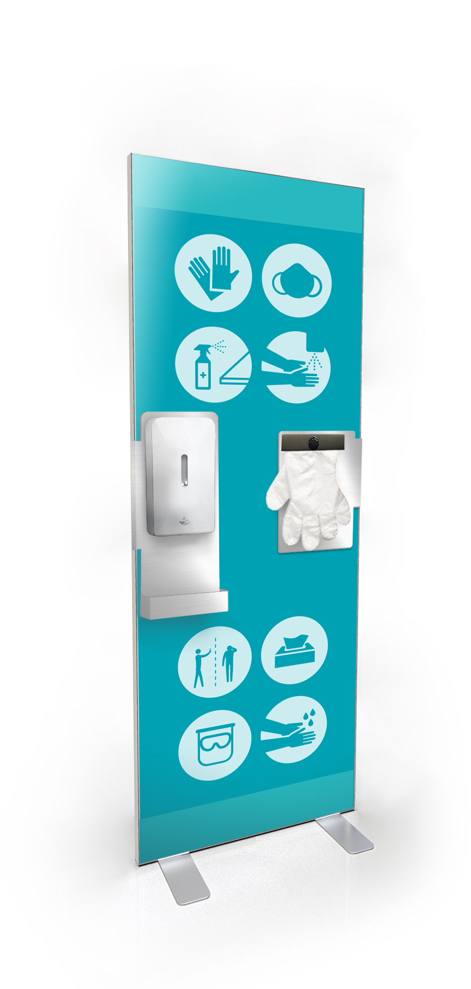 Automatic Hand Sanitiser Station with gloves dispenser- Coronavirus Covid19 Essentialswww.ontimeprint.co.uk