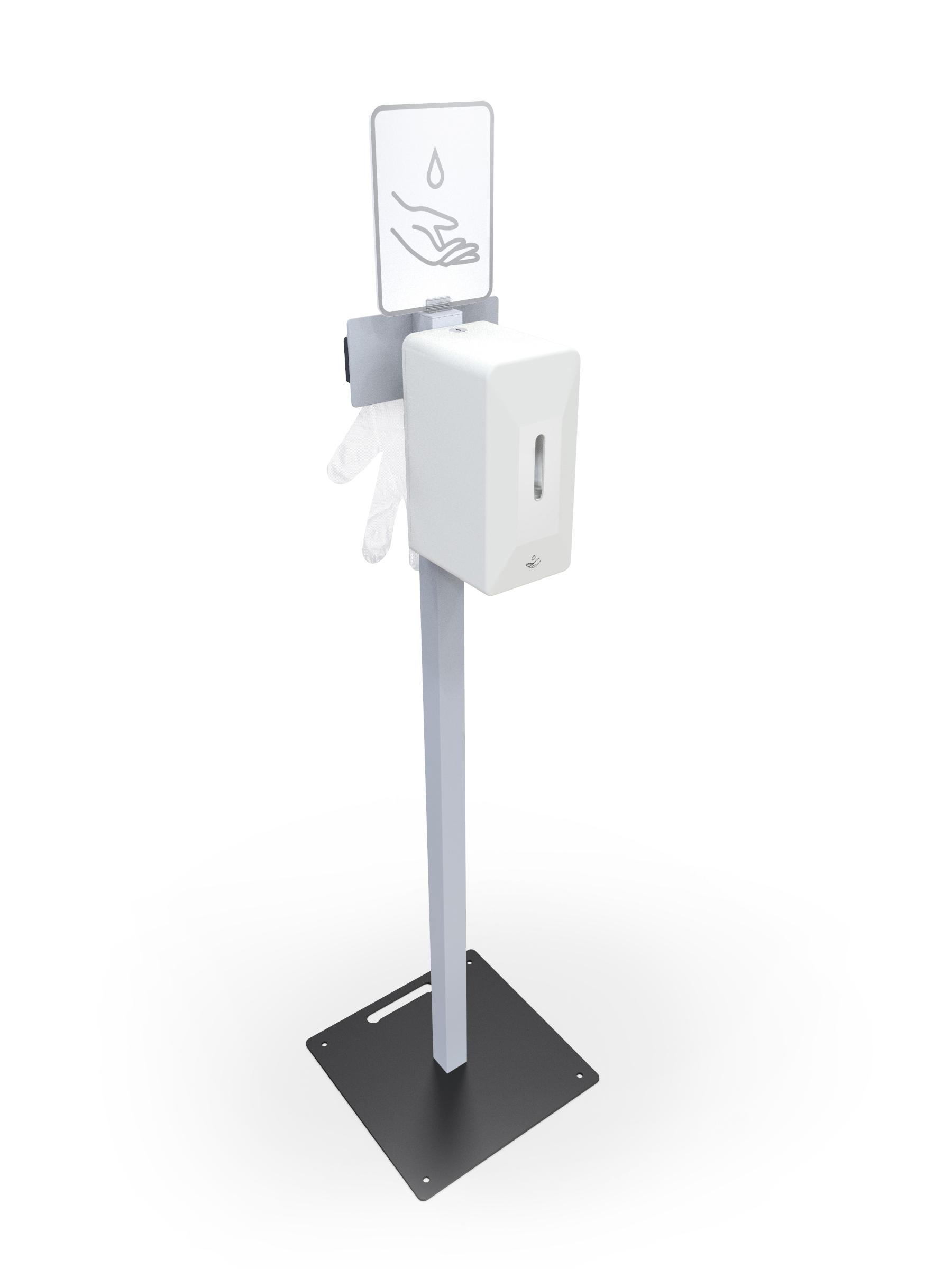 Freestanding Automatic Hand Sanitiser Station (small)- Coronavirus Covid19 Essentials www.ontimeprint.co.uk